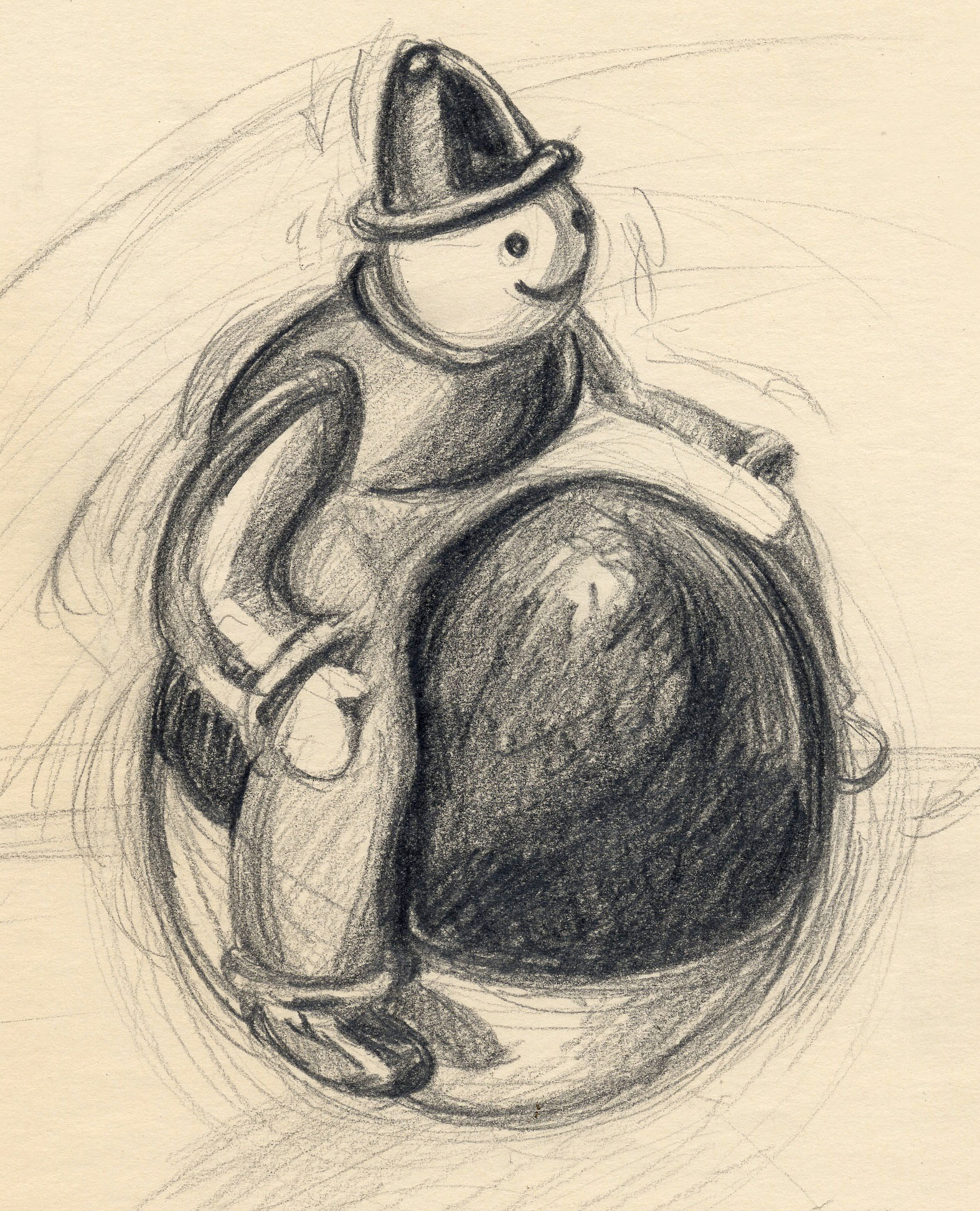 sketch of balancing toy